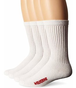 Wolverine Men's 4 Pack Cotton Crew Socks W91102670