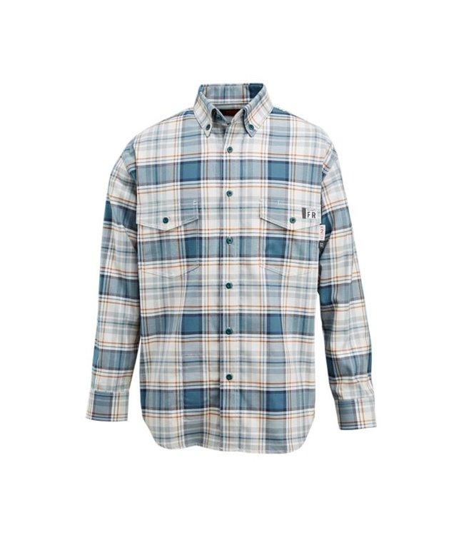 Wolverine Men's FR Plaid Long Sleeve Twill Shirt W1203980