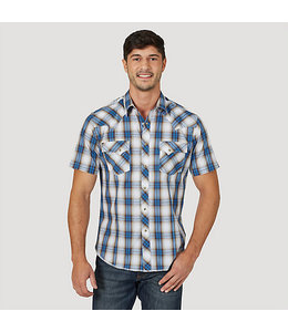 Wrangler Fashion Snap Short Sleeve Western Plaid Shirt MVG276M