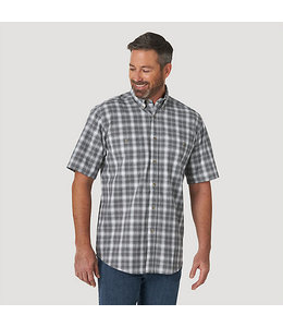 Wrangler Rugged Wear Short Sleeve Easy Care Plaid Button-Down Shirt RWBS1WB