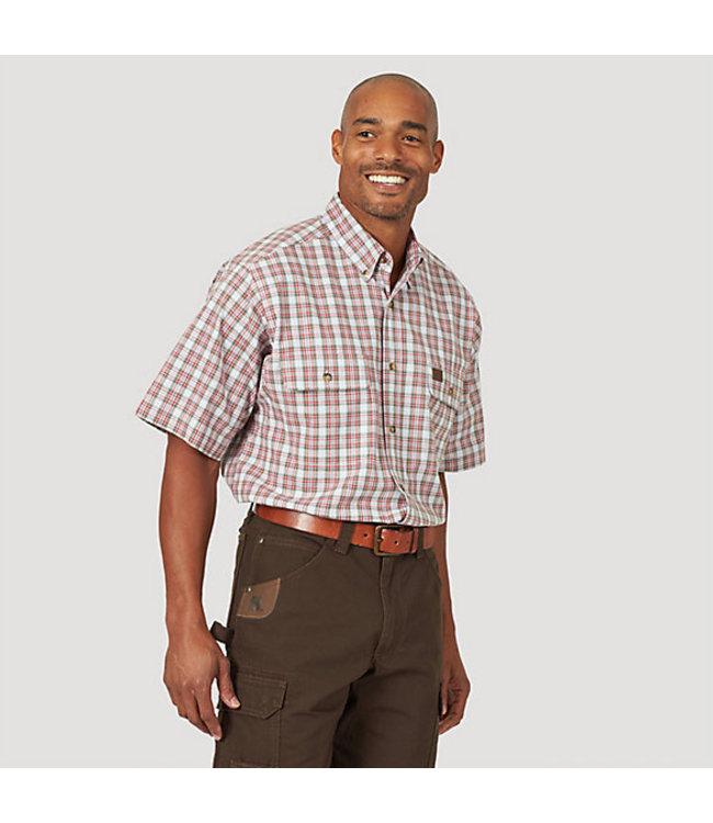 Wrangler Riggs Workwear Plaid Work Shirt 3W618WR