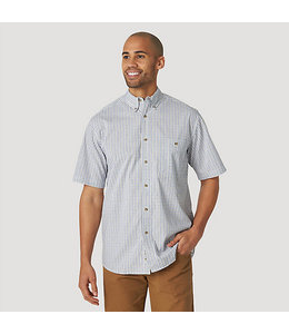 Wrangler Rugged Wear Short Sleeve Wrinkle Resist Plaid Button-Down Shirt RWWS1WE