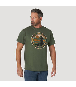Wrangler Rugged Wear Short Sleeve Pine Tree Graphic T-Shirt RWTS1MS