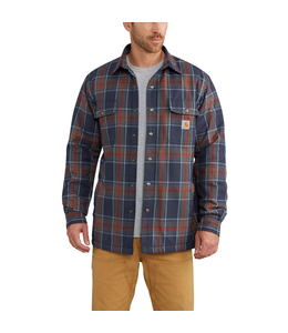 Carhartt Hubbard Sherpa Lined Plaid Long Sleeve Shirt Jac 102333