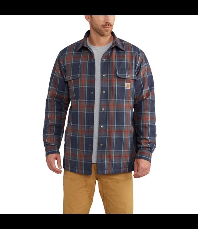 Carhartt Hubbard Sherpa Lined Plaid Long Sleeve Shirt Jac 102333
