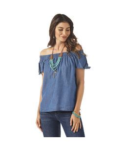 Wrangler Women's Wrangler Retro Off-The-Shoulder Chambray Top LW6265D
