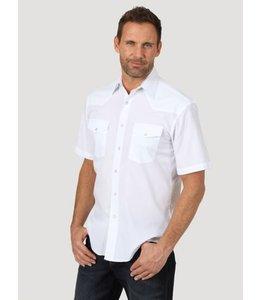 Wrangler Men's Short Sleeve Solid Western Snap Sport Shirt 71106WH