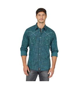 Wrangler Men's Rock 47 Western Yoke Decorative Stitching Snap Shirt MRC393T