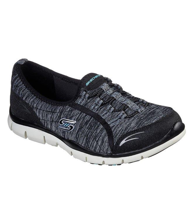Skechers Gratis - Her Stroll Wide Fit 104082W BKAQ