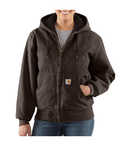 Carhartt Women's Sandstone Quilted-Flannel Active Jac WJ130