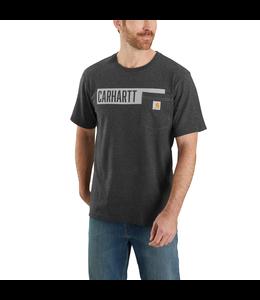 Carhartt Men's Relaxed Fit Heavyweight Short-Sleeve Pocket Stripe Graphic T-Shirt 104180