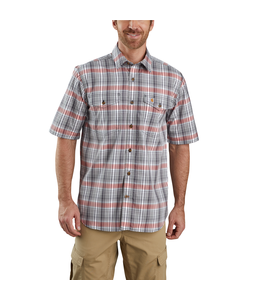 Carhartt Men's Force Relaxed-Fit Lightweight Short Sleeve Plaid Shirt 104259