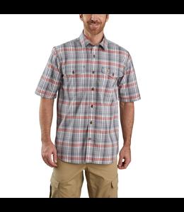 Carhartt Men's Force Relaxed-Fit Lightweight Short Sleeve Plaid Shirt 104259