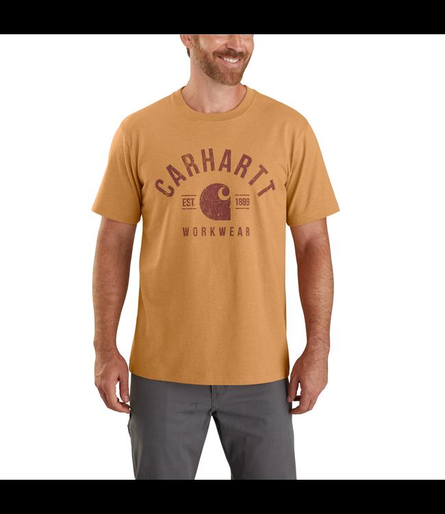 Carhartt Men's Heavyweight Short Sleeve Workwear Graphic T-Shirt 104582