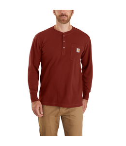 Carhartt Men's Relaxed Fit Heavyweight Long Sleeve Henley Pocket Thermal T-Shirt 104429