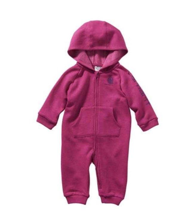Carhartt Girl's Infant Long Sleeve Heather Fleece Coverall CM9683
