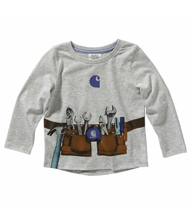 Carhartt Girl's Toddler Long Sleeve Tool Belt Graphic Tee CA9784
