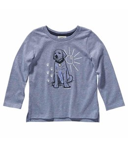Carhartt Girl's Toddler Long Sleeve Heather Graphic Tee CA9785