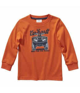 Carhartt Boy's Toddler Long Sleeve Built for the Trails Tee CA6120