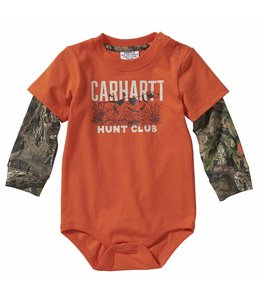 Carhartt Boy's Infant Long Sleeve Layered Camo Bodyshirt CA6114