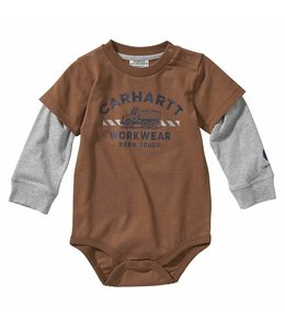 Carhartt Boy's Infant Long Sleeve Born Tough Bodyshirt CA6110
