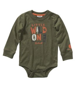 Carhartt Boy's Infant Long Sleeve Heather Bodyshirt CA6108