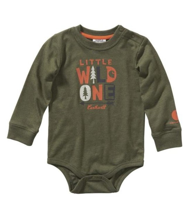 Carhartt Boy's Infant Long Sleeve Heather Bodyshirt CA6108