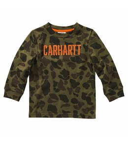 Carhartt Boy's Toddler Long Sleeve Duck Camo Tee CA6103