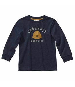 Carhartt Boy's Toddler Long Sleeve Heather Graphic Tee CA6102