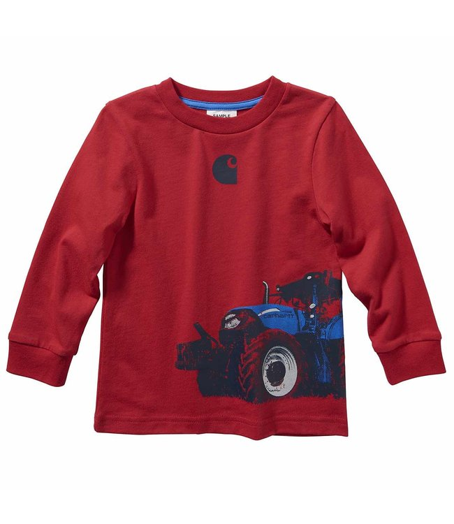 Carhartt Boy's Toddler Long Sleeve Tractor Wrap Tee CA6100