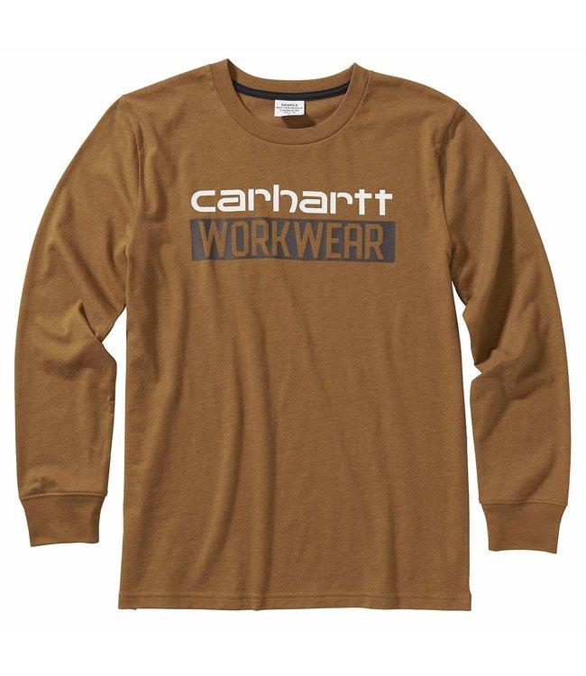 Carhartt Boy's Long Sleeve Heather Graphic Tee CA6095