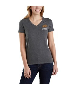 Carhartt Women's T-Shirt V-Neck Short-Sleeve Outdoor Lockhart Graphic 103588