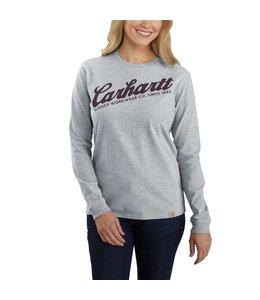 Carhartt Women's Original Fit Heavyweight Long-Sleeve Carhartt Graphic T-Shirt 104523