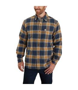 Carhartt Men's Rugged Flex Relaxed Fit Flannel Fleece-Lined Plaid Shirt 104450