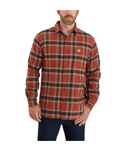 Carhartt Men's Rugged Flex Relaxed Fit Flannel Fleece-Lined Plaid Shirt 104450