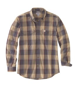 Carhartt Men's Original Fit Chambray Long-Sleeve Plaid Shirt 104447