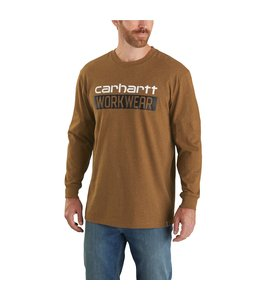 Carhartt Men's Original Fit Heavyweight Long-Sleeve Workwear Graphic T-Shirt 104431