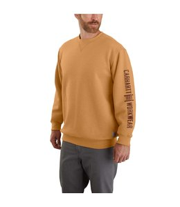 Carhartt Men's Original Fit Midweight Logo Graphic Crewneck Sweatshirt 104441