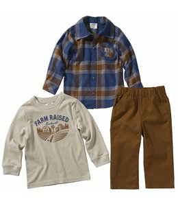 Carhartt Boy's Infant 3 Piece Canvas Pant Set CG8743