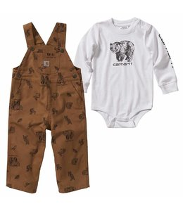 Carhartt Boy's Infant Printed Canvas Overall Set CG8740