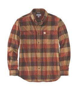 Carhartt Men's Rugged Flex Relaxed Fit Flannel Long-Sleeve Plaid Shirt 104448