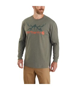Carhartt Men's Original Fit Heavyweight Long-Sleeve Hunt Graphic T-Shirt 104436