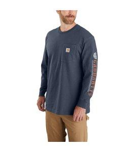 Carhartt Men's Original Fit Heavyweight Long-Sleeve Pocket Logo Graphic T-Shirt 104430