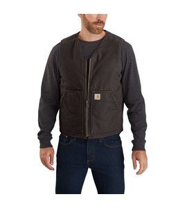 Carhartt Men's Washed Duck Sherpa Lined Vest 104394