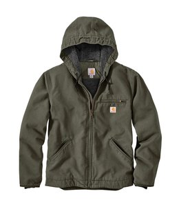 Carhartt Men's Washed Duck Sherpa Lined Jacket 104392