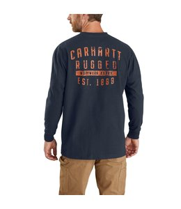 Carhartt Men's Original Fit Heavyweight Long-Sleeve Pocket Rugged Workwear Graphic T-Shirt 104433
