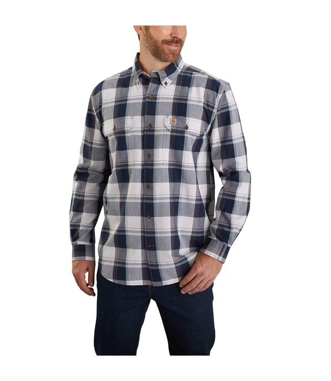 Carhartt Men's Original Fit Chambray Long-Sleeve Plaid Shirt 104447