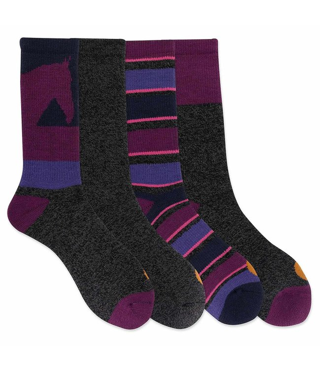 Carhartt Girls' Thermal Crew Sock 4 Pack CHGA0104C4