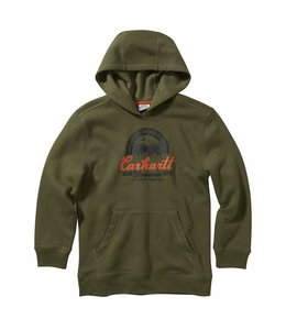 Carhartt Boy's Long Sleeve Graphic Hooded Sweatshirt CA6118