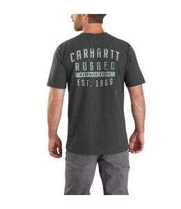 Carhartt Men's Relaxed Fit Heavyweight Short Sleeve Rugged Graphic Pocket T-Shirt 104581